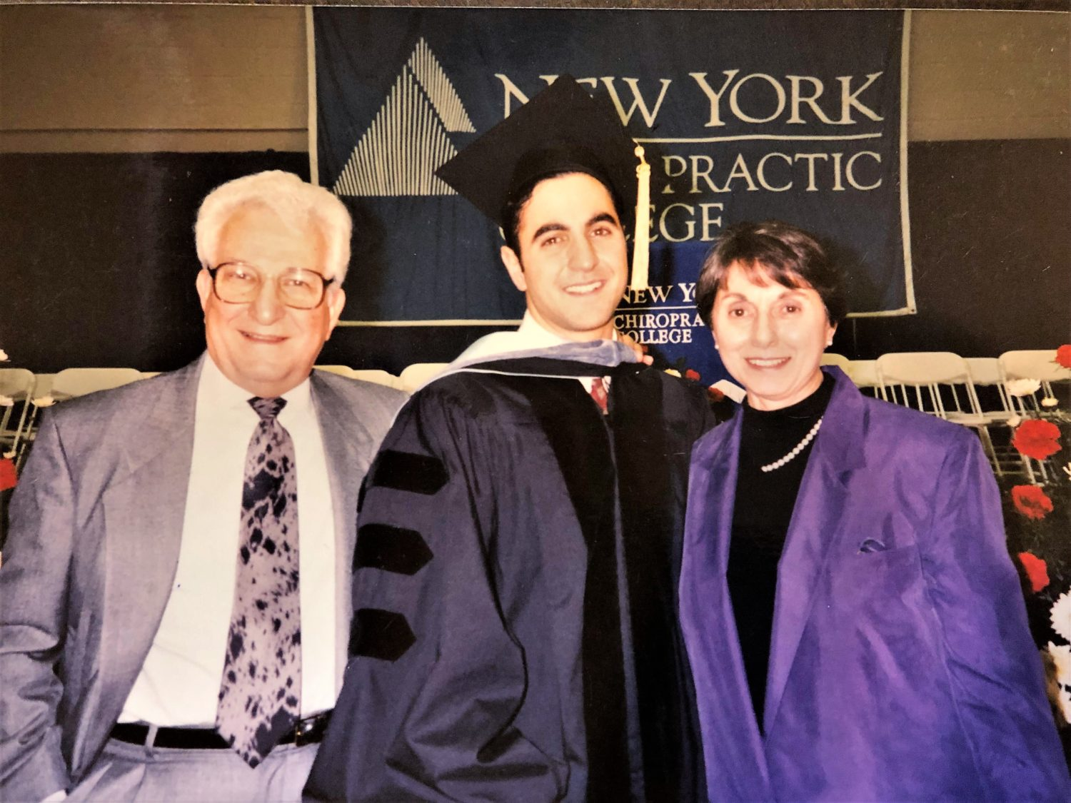 Dr. Proodian with his parents at his graduation